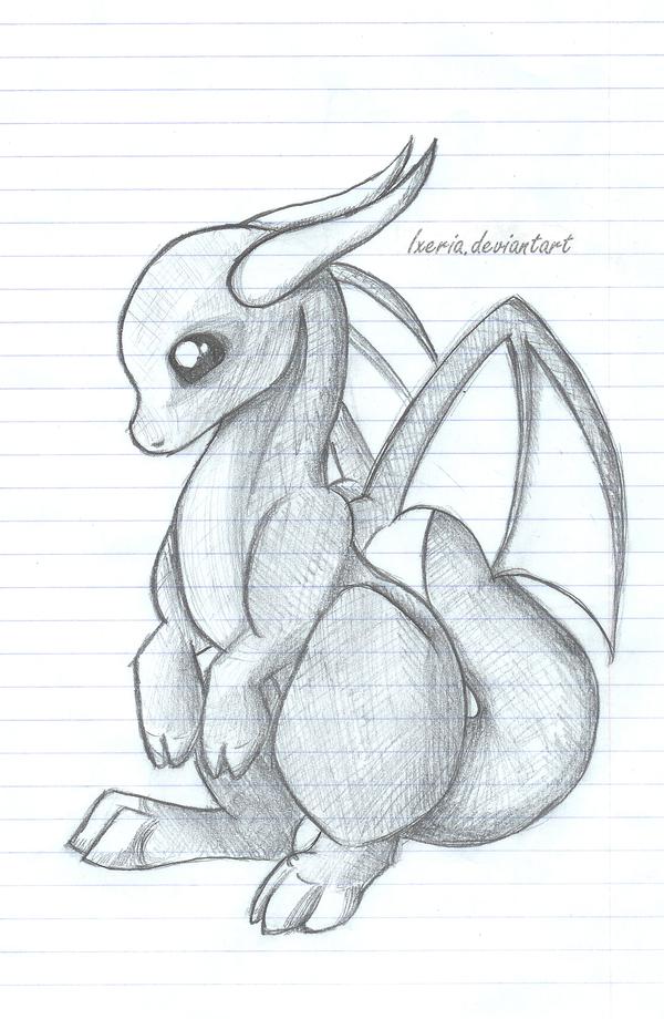 Baby Dragon sketch by Ixeria