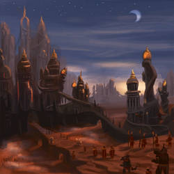 Cultist city by Uriak