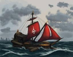 Cultist ship by Uriak