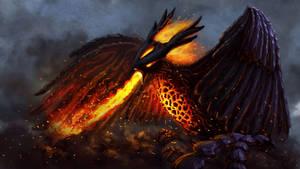 Obsidian Phoenix by Uriak