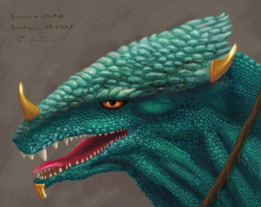Lizardman Saurus sketch by Uriak