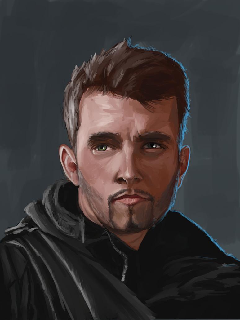 Male portrait study by Uriak