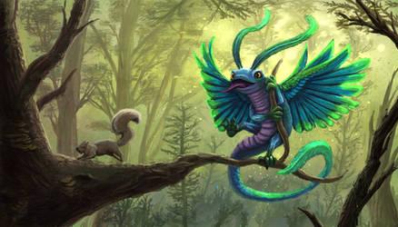 Quetzal dragon by Uriak