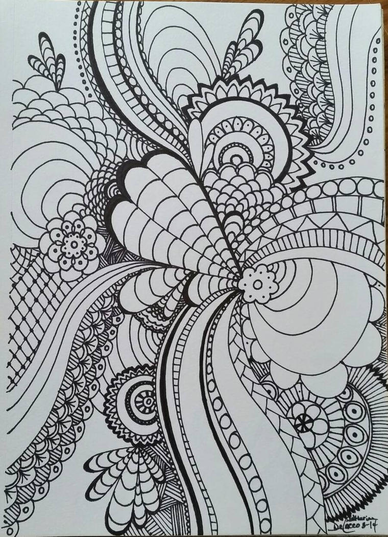 Zentangle 1 by CrazieCathie