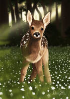 COMMISSION - Baby deer by DianaGatto