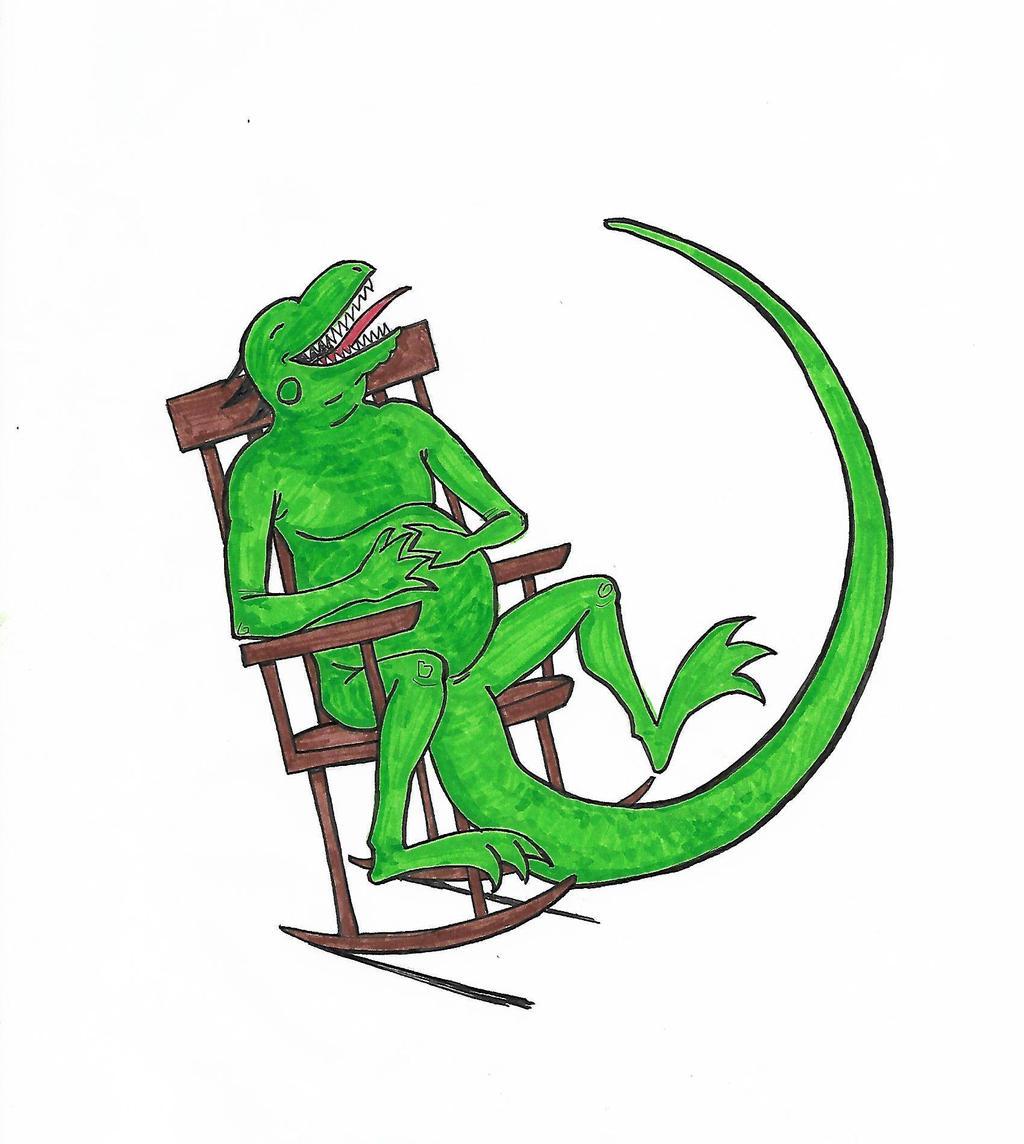 Rocking chair iguana by kevman on deviantart