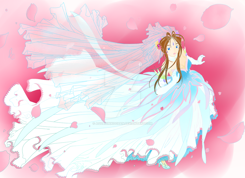 belldandy in her wedding dress request v1 by