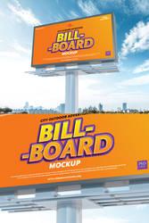 Free High Quality PSD Billboard Mockup