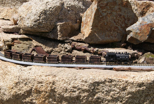 My N Scale Ore Train on Canyon Pass