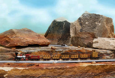 N Scale Thunder Mine Ride Redux