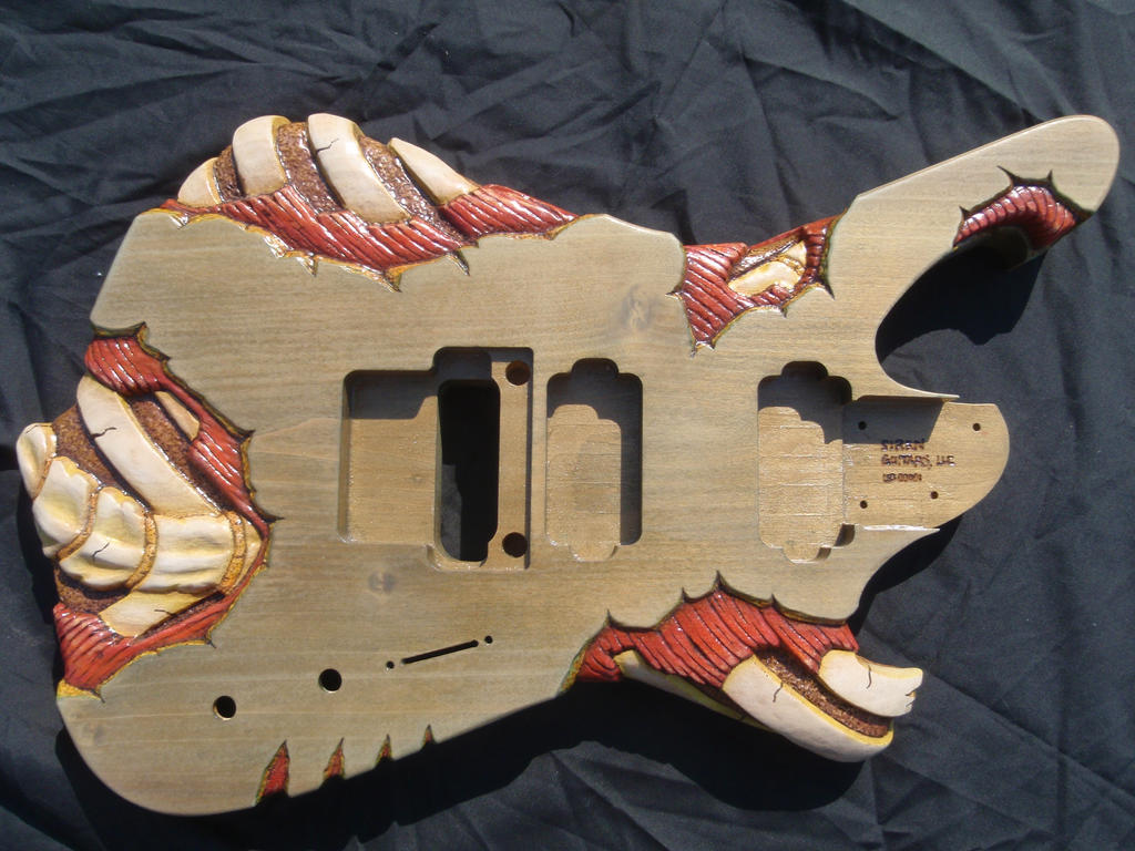 Undead Guitar Body by jendawn77
