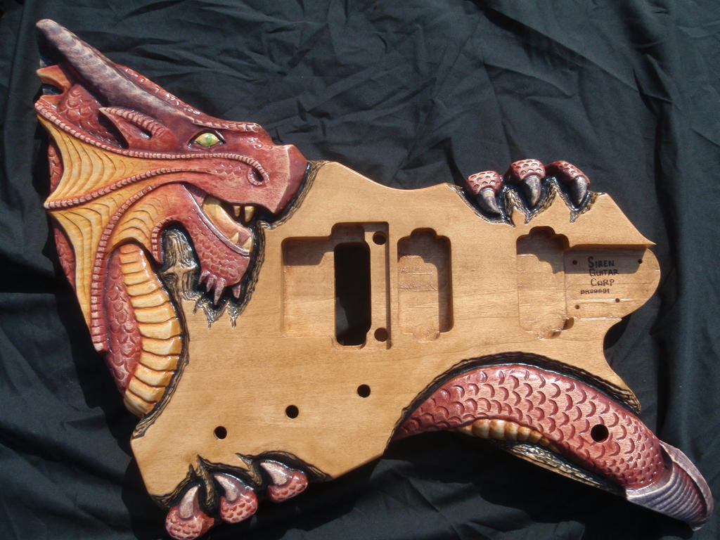 Dragon Guitar Body by jendawn77
