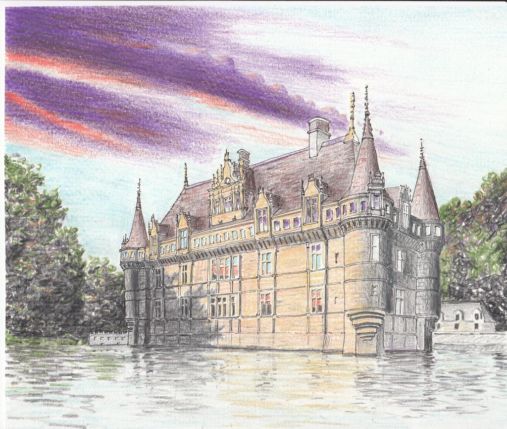 chateau azay le rideau france by docmckayjr on deviantart. Black Bedroom Furniture Sets. Home Design Ideas