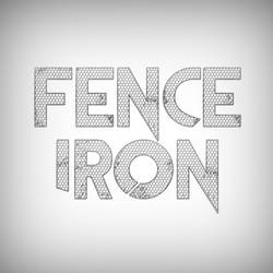 Iron fence aluminium text effect