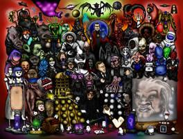 Doctor Who Creatures Part 4: 2005-2010: RTD era by ApocalypseCartoons