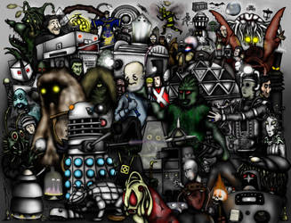 Every Doctor Who Creature - Part 1 - The 1960s by ApocalypseCartoons