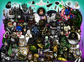 Every Doctor Who Creature - Part 3 - The 1980s by ApocalypseCartoons