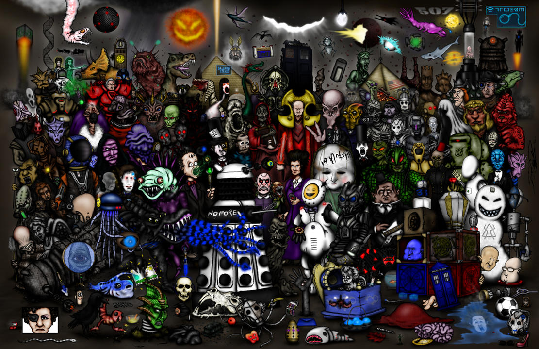 Every Doctor Who Creature - Part 5 - Moffat's Era by ApocalypseCartoons