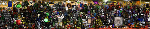 Every Doctor Who Creature Ever by ApocalypseCartoons