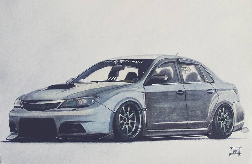 Stanced Subaru WRX STi By Artticle5