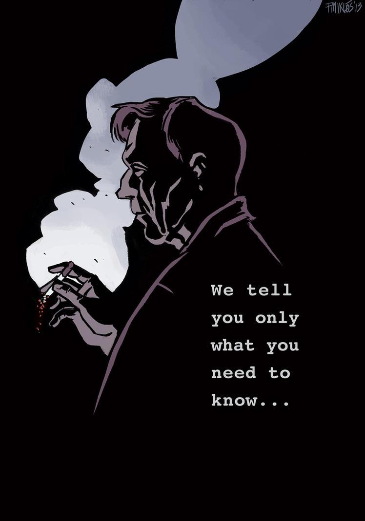The X Files Cigarette Smoking Man By Nonamefox