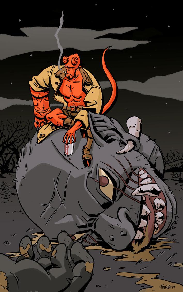 Hellboy by nonamefox