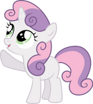Pointing Sweetie Belle