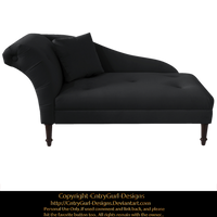 Dark Gray Chaise 01 by CntryGurl-Designs