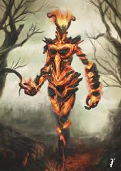 Elder Scrolls Fire Atronach by ISignRob