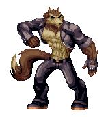 Pixel Werewolf by Brueh