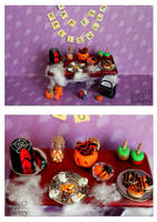 Miniature Halloween table 2013 by EmisBakery