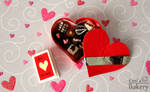 Miniature Valentine's day box with chocolates