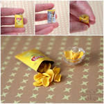 Miniature crisps in bag