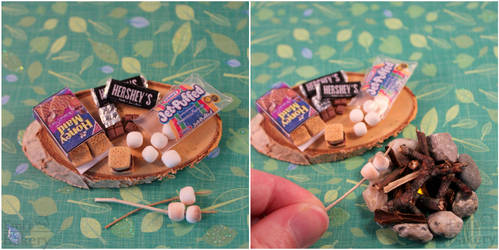 Miniature s'mores campfire by EmisBakery