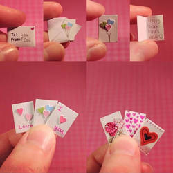Miniature Valentine's Cards by EmisBakery