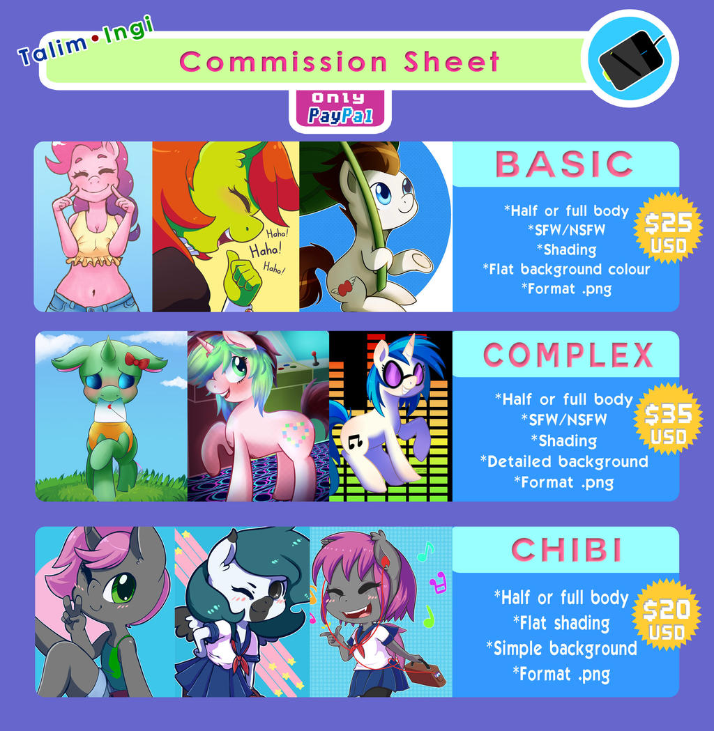 Commission Sheet (Updated)