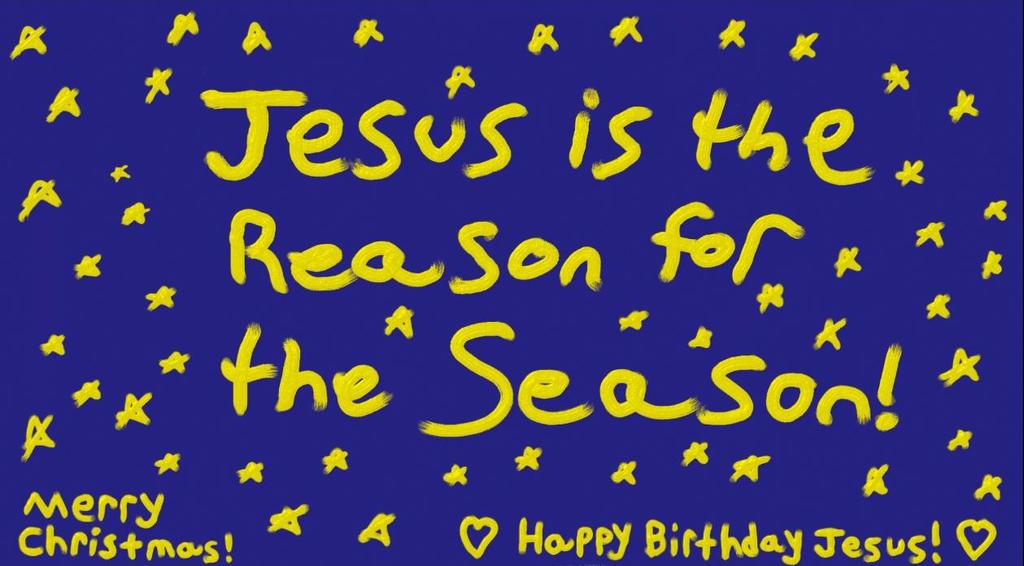 Jesus Is The Reason For Season By GlitterAngelWings