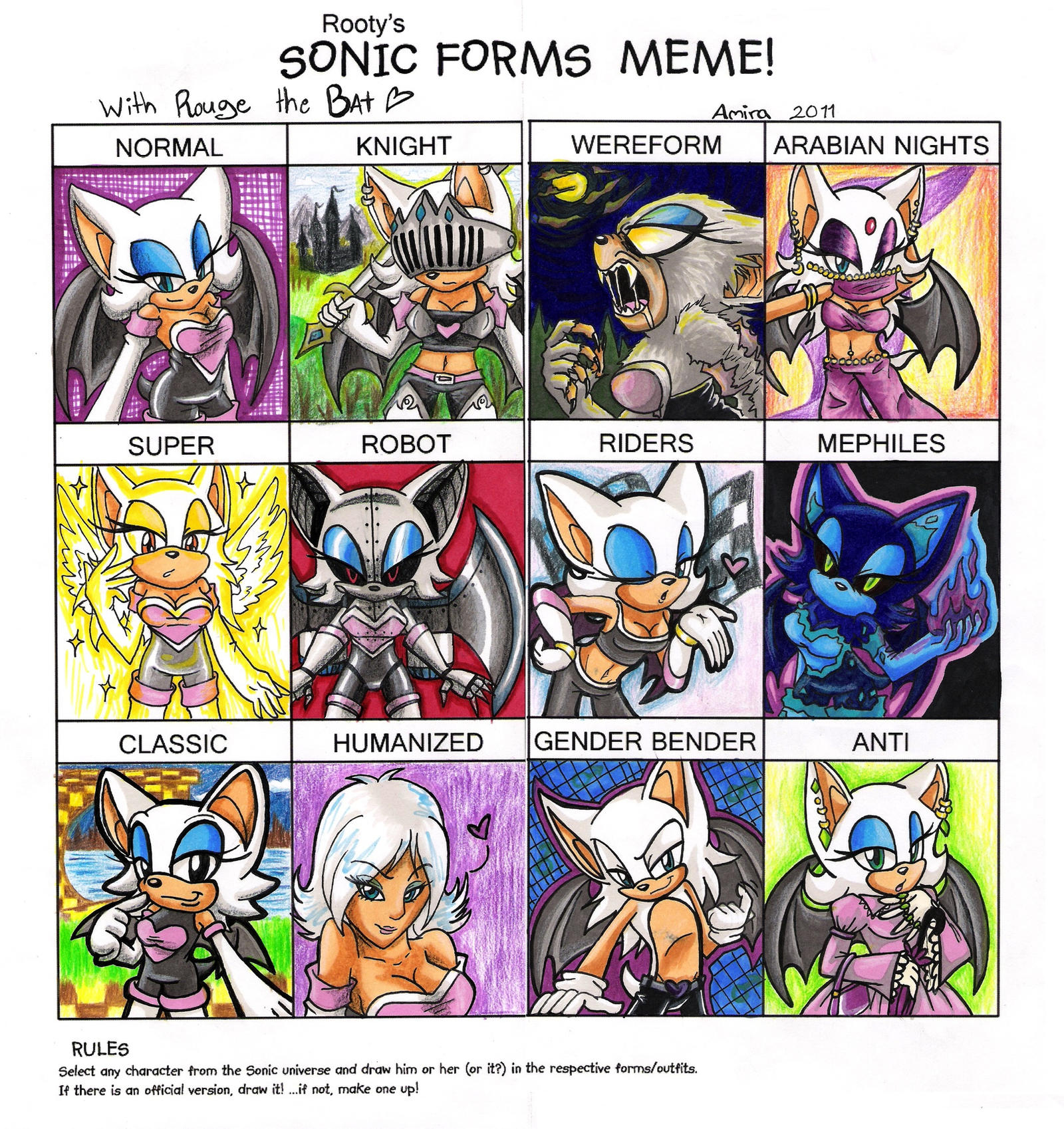 Sonic Forms: Sonic Forms Meme: Rouge By Amirattus On DeviantArt
