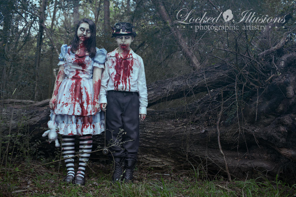 Zombies in wonderland by lockedillusions