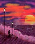 City Sunset Landscape