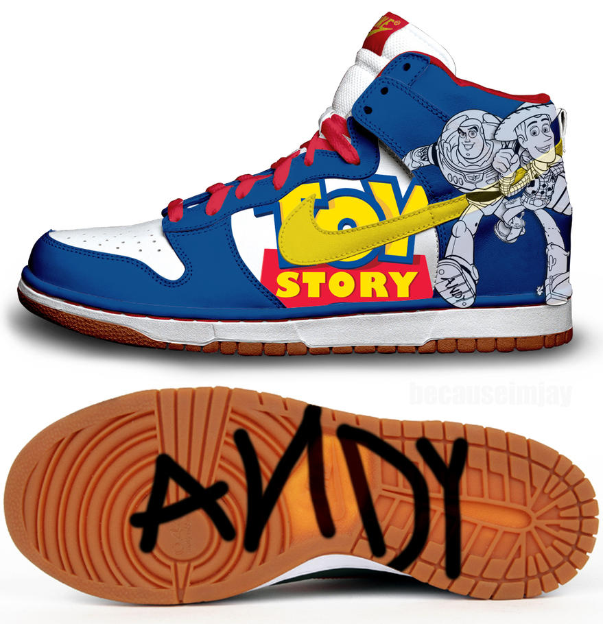Toy Story Nike Dunks by becauseimjay