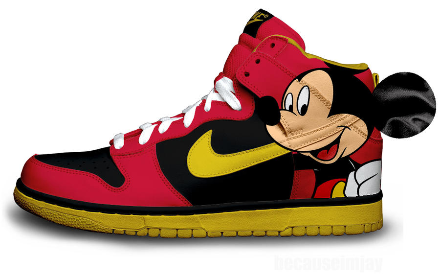 Mickey Mouse Nike Toddler Shoes