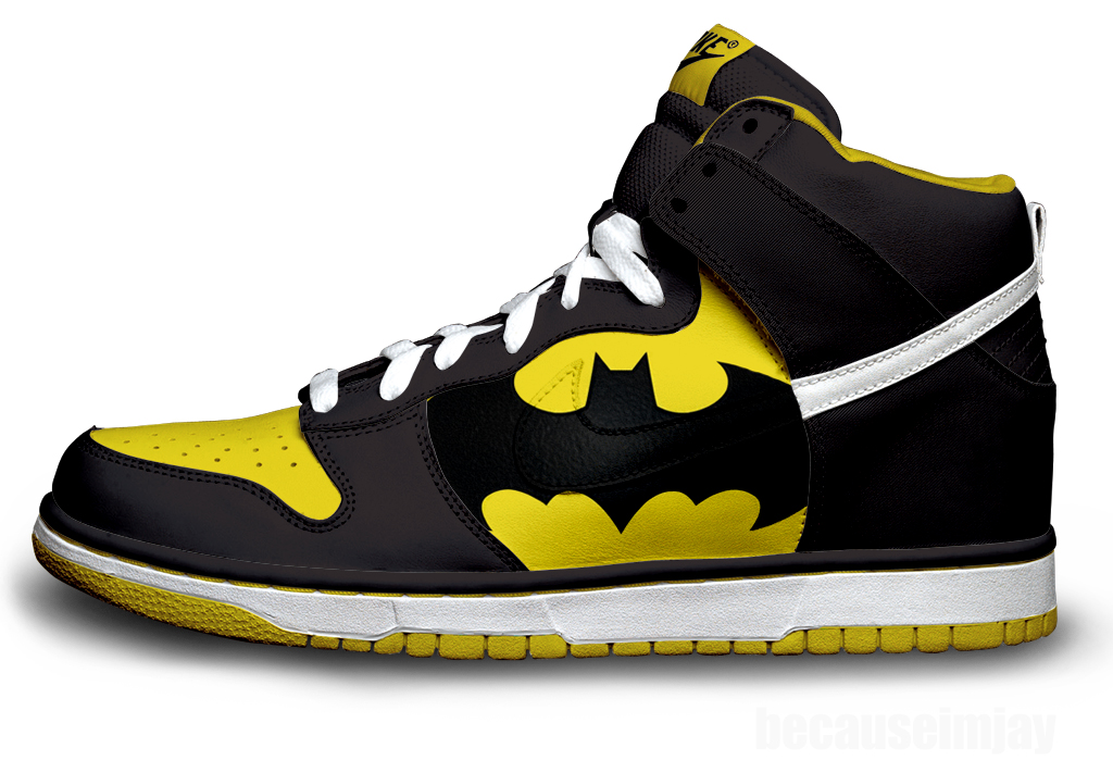 Batman Nike Dunk Shoes For Sale