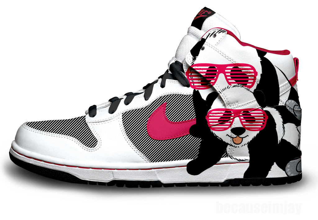 premium selection 9d245 ad1c7 Panda Nike Dunks by becauseimjay on DeviantArt
