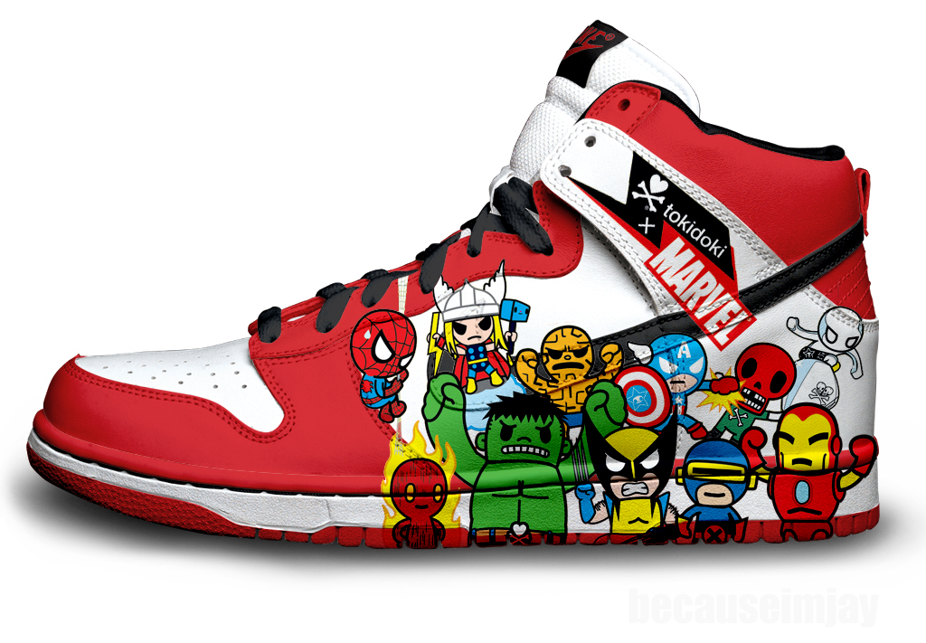 best service d5229 63f51 Marvel Nike Dunks by becauseimjay ...