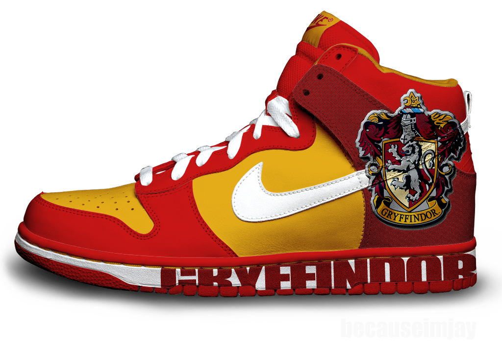 Gryffindor Nike Dunks by becauseimjay