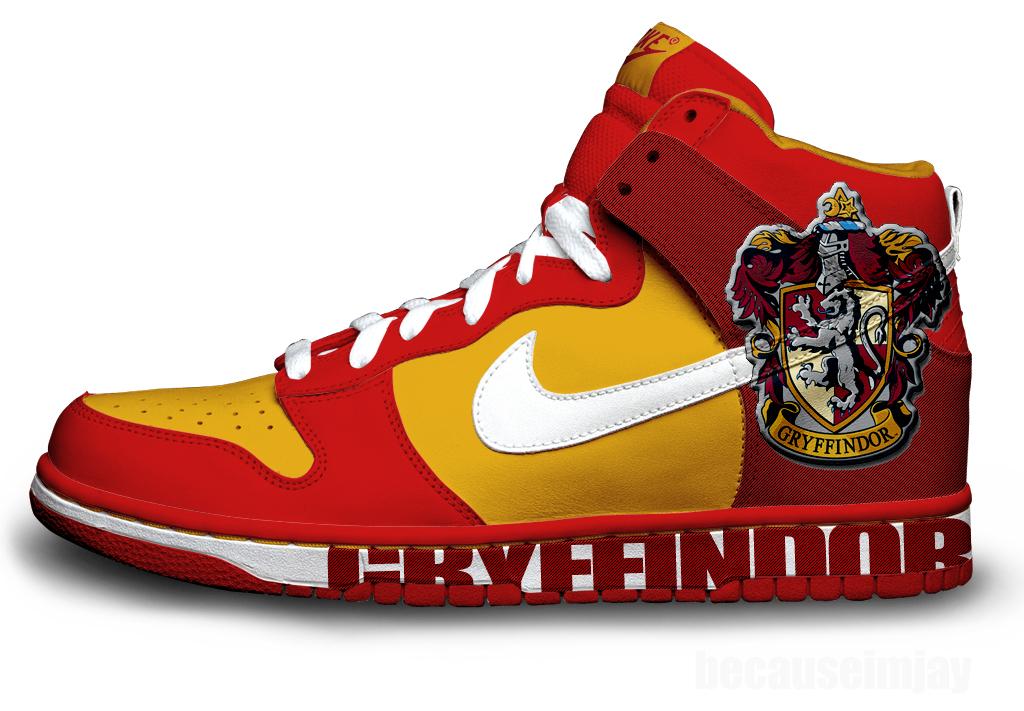 Gryffindor Nike Dunks