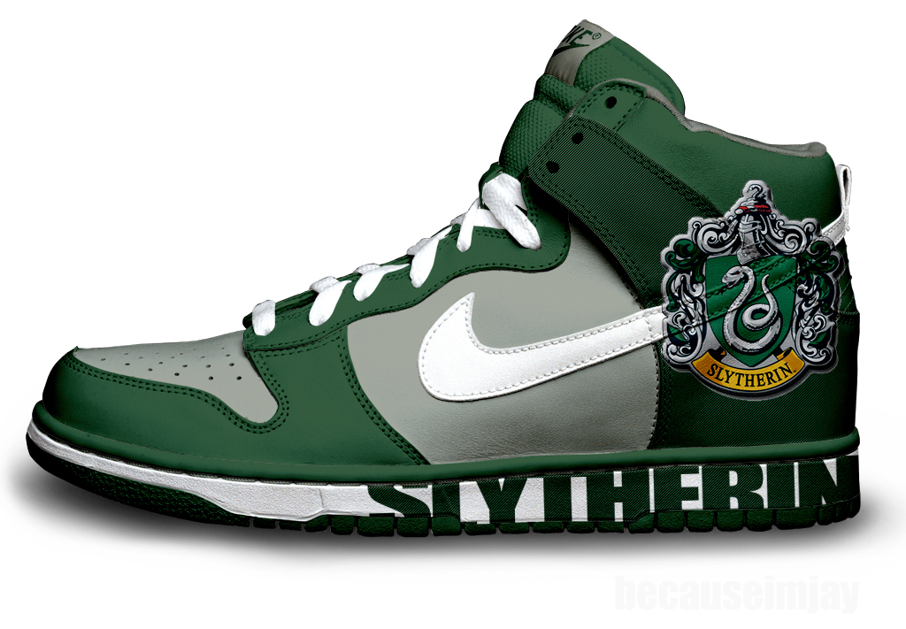Slytherin Nike Dunks by becauseimjay