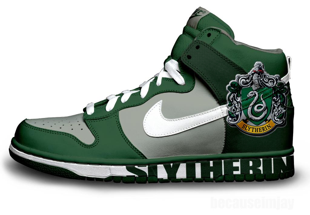 Slytherin Nike Dunks