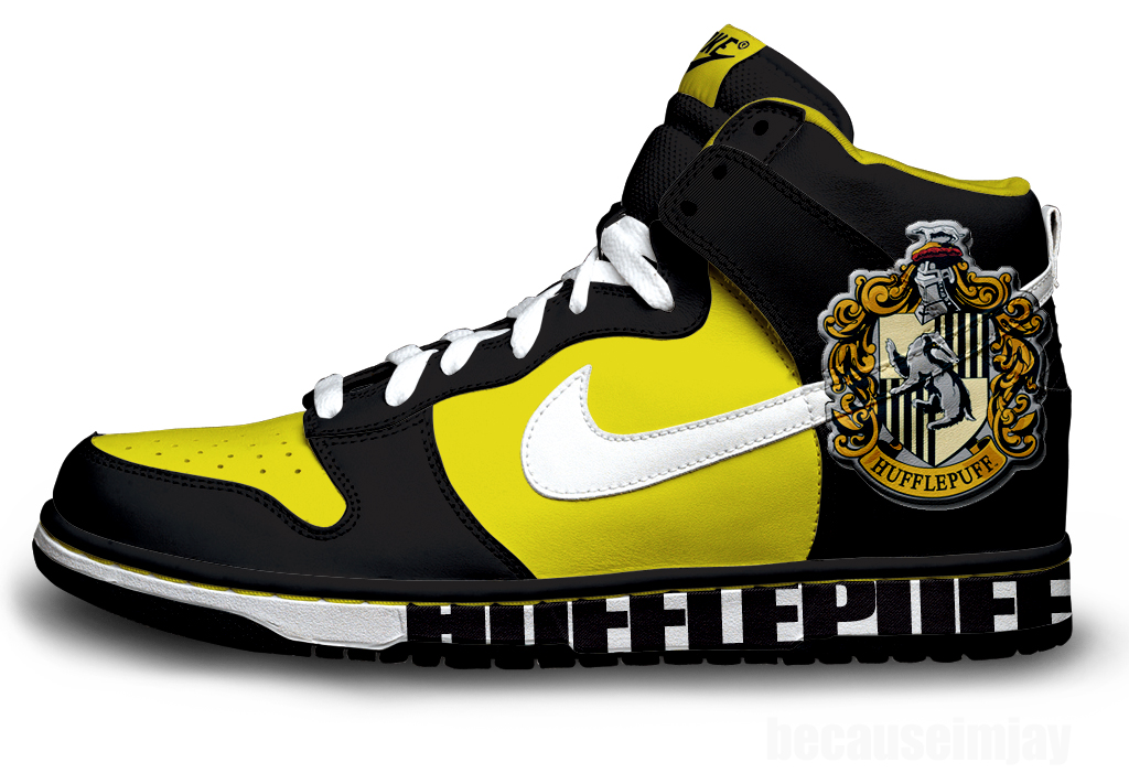 Hufflepuff Nike Dunks by becauseimjay